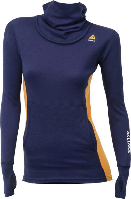 Aclima W's WarmWool Hood Sweater Sweater Sweater Peacoat/Sudan Brun e1c9ac